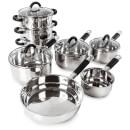 Tower Essentials Pan Set  Stainless Steel (8 Piece)
