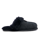 UGG Womens Scuffette II Serein Shimmer Suede Slippers  Black  UK 3.5