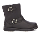 UGG Kids Harwell Leather Biker Boots  Black  UK 3 Kids