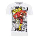 DC Comics Men's The Flash Comic Strip T-Shirt - White