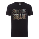 DC Comics Men's Suicide Squad Logo T-Shirt - Black