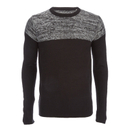 Men's Roland Marl Panel Jumper - Black - XL Negro XL