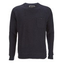 Brave Soul Men's Adler Textured Pocket Jumper - Dark Navy - L