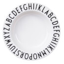 Design Letters Kids' Collection Melamine Plate - White