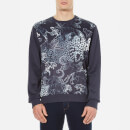Versace Jeans Mens Printed Crew Neck Sweatshirt  Blue  XL