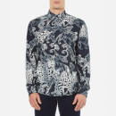 Versace Jeans Mens All Over Patterned Shirt  Blue  L