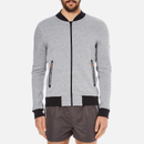 Superdry Mens Gym Tech Bomber Jacket  Grey Grit  M