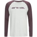 Animal Men's Action Raglan Long Sleeve Top Light Grey Marl L
