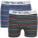 Animal Men's Allview 2 Pack Stripe Boxers - Multi - XXL