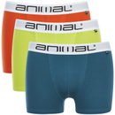 Animal Men's Block 3 Pack Boxers - Multi - L