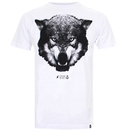 Cotton Soul Men's Wolf T-Shirt - White - M