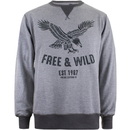 Cotton Soul Men's Free & Wild Sweatshirt - Grey Marl - S