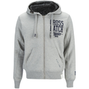 Crosshatch Men's Clarkwell Borg Lined Zip Through Hoody - Grey Marl