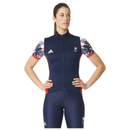 adidas Women's Team GB Replica Training Cycling Short Sleeve Jersey Blue L