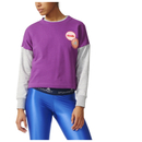 adidas Women's Stella Sport Spacer Training Crew Sweatshirt Purple XS