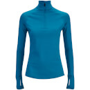 adidas Womens Techfit 12 Zip Training Top  Blue  S