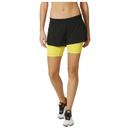 adidas Womens Gym TwoinOne Training Shorts  BlackYellow  L