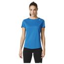 Adidas Sequencials CC Shortsleeve Dames Hardloopshirt (blauw) S