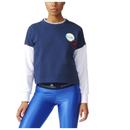 adidas Womens Stella Sport Spacer Training Crew Sweatshirt  Blue  M