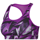 adidas Women's Print Training Racer Back Bra Purple L-AB