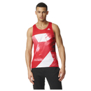 adidas Men's Adizero Running Singlet Red L