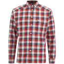 Haglofs Mens Tarn Flannel Shirt  Real RedBlue Ink  M