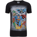 DC Comics Men's Superhero Flying T-Shirt - Black