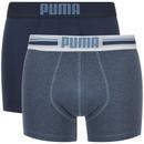 Pack de 2 bóxers Puma Logo - Hombre - Azul marino/azul - M - Azul Azul M