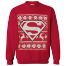 DC Comics Men's Superman Christmas Fairisle Sweatshirt - Red