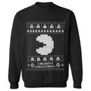 Namco Men's Merry Pac-Man Christmas Sweatshirt - Black