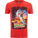 Back to the Future Men's Distressed Poster T-Shirt - Red