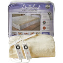 Dreamland 16296 Sleepwell Intelliheat Soft Fleece Fitted Electric Under Blanket  Cream  Double
