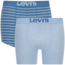 Levi's Men's 200SF 2-Pack Vintage Stripe Boxers - Dark Blue - L