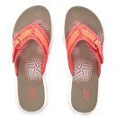 Clarks Womens Brinkley Quade Toe Post Sandals  Coral  UK 3