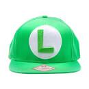 Luigi L Logo Green Snapback Cap