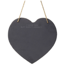 Parlane Heart Slate Memo Board  Black (30 x 29cm)