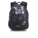 Spiral Bright Eyes Back Pack with Laptop Pocket - Black