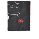 Image of Spiral Blood Rose Fleece Blanket - Black