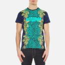 Versace Jeans Mens Leopard Print TShirt  Blue  S