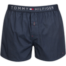 Tommy Hilfiger Mens Icon Cotton Woven Boxer Shorts  Navy Blazer  M