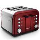 Morphy Richards 242030 Accents 4 Slice EPP Toaster  Red