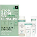 REN Stop Being So Sensitive Regime Kit 75ml (Free Gift) (Worth £23.00)