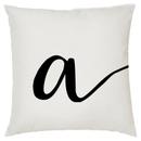 Image of Alphabet Script Cushion - Letter A (45x45cm)