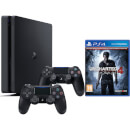 Sony Playstation 4 Slim 500GB Console with Uncharted 4 and DualShock 4 Controller V2 – Black