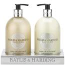 Baylis & Harding Jojoba Silk & Almond Oil 2 Bottle Set in an Acrylic Rack