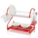 Swan 2 Tier S Shape Dish Rack  Red