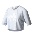 adidas Women's Aeroknit Boxy Crop Top White M