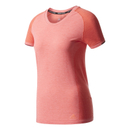 Adidas Primeknit women's running t-shirt (coral) XS