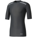 adidas Techfit Chill T-shirt, Zwart, S, Male, Training