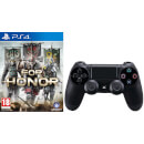 For Honor with Sony PlayStation 4 DualShock 4 Controller Black - sony - zavvi.com